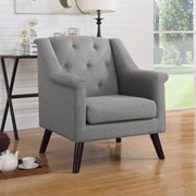 Container Tufted Arm Chair; Gray