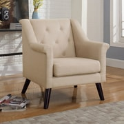 Container Tufted Arm Chair; Beige