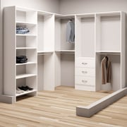 TidySquares Inc, Demure Design 81''W - 102.25''W Closet System