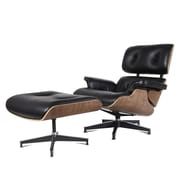 Urban Furnishings Leather Executive Chair; Walnut