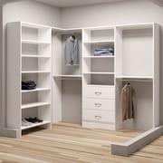 TidySquares Inc, Demure Design 93''W - 73''W Closet System