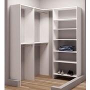 TidySquares Inc, Demure Design 59.5''W - 62.25''W Closet System