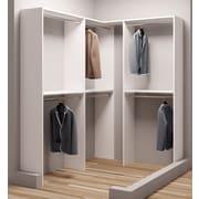 TidySquares Inc, Demure Design 59.5''W - 68.25''W Closet System