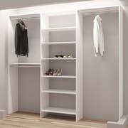 TidySquares Inc, Demure Design 87''W Closet System