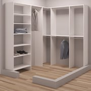 TidySquares Inc, Demure Design 75''W - 90.25''W Closet System
