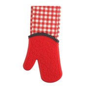 Kitchen Innovations Zeal Steam Stop Waterproof Silicone Double Oven Mitt; Red
