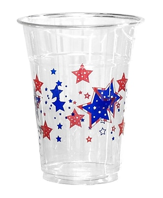 Kovot Patriotic Stars 16 oz. Disposable Plastic Everyday Party Cup (Set of 50) WYF078280050657
