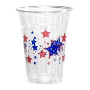 Kovot Patriotic Stars 16 oz. Disposable Plastic Everyday Party Cup (Set of 50)