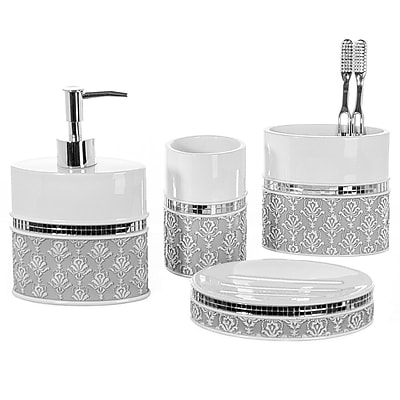 Creative Scents 4-Piece Bathroom Accessory Set WYF078280049874