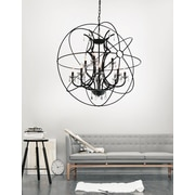 CrystalWorld Bird Cage 12-Light Globe Pendant