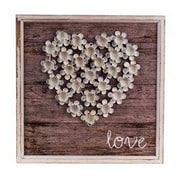ByronAnthonyHome Love in Bloom Wood Plaque Wall D cor