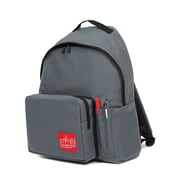 Manhattan Portage Big Apple Backpack With Pen Holder, Medium Size, Grey (1210-BD-2 GRY)