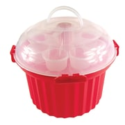 Fox Run Craftsmen 5 Piece Cupcake Carousel Set; Red