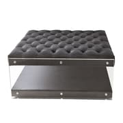 Inspired Home Co. Bette Ottoman; Gray