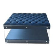 Inspired Home Co. Bette Ottoman; Navy
