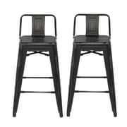 Ace Casual Furniture 31'' Bar Stool (Set of 2); Black