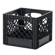 Buddeez Classic Milk Plastic Crate (Set of 2); Black