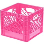 Buddeez Classic Milk Plastic Crate (Set of 2); Pink