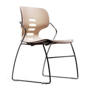 Trendway Armless Stacking Chair; Ivory