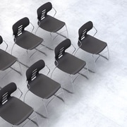Trendway Armless Stacking Chair; Dark Gray