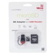 Unirex msu-162s Memory Card, Class 4, 16GB, microSD
