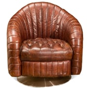 Moe's Home Collection Geneva Leather Barrel Chair