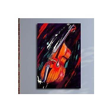 Maxwell Dickson ''Double Bass'' Graphic Art on Canvas; 40'' H x 60'' W