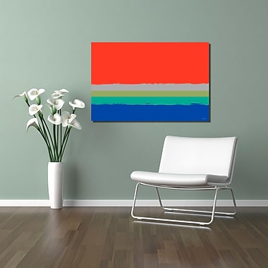 Maxwell Dickson ''Setting Sky'' Graphic Art on Canvas; 40'' H x 60'' W