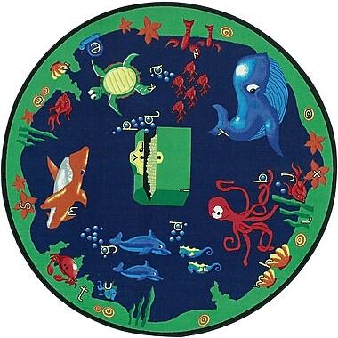 Flagship Carpets Educational Sea Hunt Area Rug; Round 6'