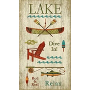 Vintage Signs Lake Wall Art by Suzanne Nicoll Vintage Advertisement Plaque