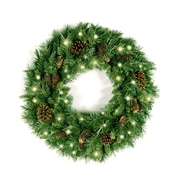 National Tree Co. Pre-Lit Pine Cone Wreath w/ 50 Clear Lights; 24''