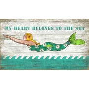 Vintage Signs Diving Mermaid Wall Art by Suzanne Nicoll Vintage Advertisement Plaque
