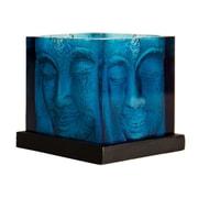 Foreign Affairs Home Decor Ani Glass Hurricane; Blue