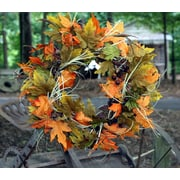 Flora Decor 22'' Fall Acorn Leaf Wreath