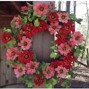 Flora Decor 22'' Spring Forward Zinnia Wreath