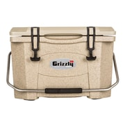 Grizzly Coolers 20 Qt. RotoMolded Cooler; Sandstone/Tan