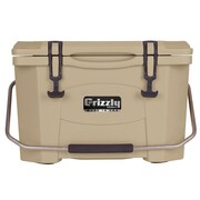 Grizzly Coolers 20 Qt. RotoMolded Cooler; Tan