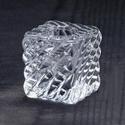 Biedermann and Sons Swirl Square Glass Candle Holder (Set of 6); Clear