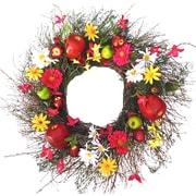 Dried Flowers and Wreaths LLC Parisian Spring 22'' Wreath
