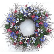 Dried Flowers and Wreaths LLC 22'' Faux Floral Wreath