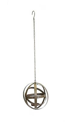 Sagebrook Home Corena Metal Lantern; 26.8'' H x 9.8'' W x 9.1'' D WYF078280046726