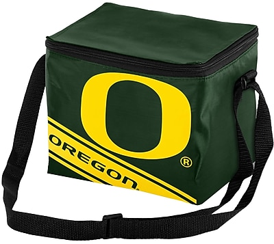 Forever Collectibles 6 Can NCAA Big Logo Stripe Picnic Cooler; University of Oregon Ducks WYF078280041519