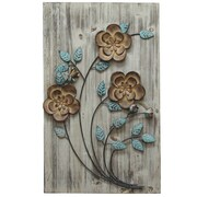 Stratton Home Decor Rustic Floral Panel I Wall D cor