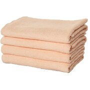 Puffy Towels Turkish Cotton Bath Towel (Set of 4); Salmon