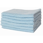 Puffy Towels Turkish Cotton Bath Towel (Set of 4); Blue