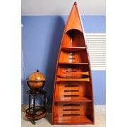 Old Modern Handicrafts Canoe 74'' Accent Shelves Bookcase