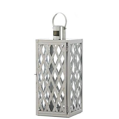 CoreofDecor Stainless Steel Lantern; 19.5'' H x 8'' W x 8.5'' D WYF078280039261