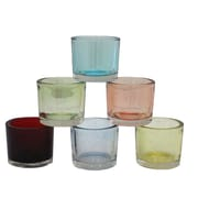 Essential Decor & Beyond Frosted Glass Votive; Light Blue