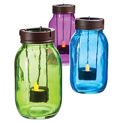 Evergreen Flag & Garden Mason Jar Candleholder (Set of 3) WYF078280040410