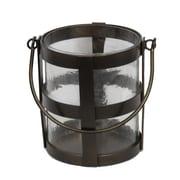 Essential Decor & Beyond Metal and Glass Lantern; White